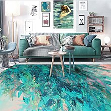 Modern Style Rug Soft Short Pile Carpets Abstract