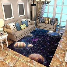 Modern Style Rug Soft Short Pile Carpets Black