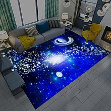 Modern Style Rug Soft Short Pile Carpets Blue