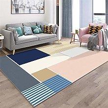 Modern Style Rug Soft Short Pile Carpets Blue pink