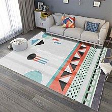 Modern Style Rug Soft Short Pile Carpets White