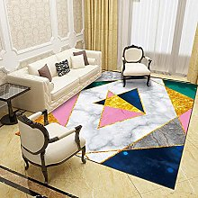 Modern Style Rug White and pink geometric Rugs