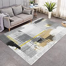 Modern Style Rug Yellow and gray geometry Rugs