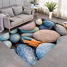 Modern Style Rug Zen Stone and Maple Leaf Rugs