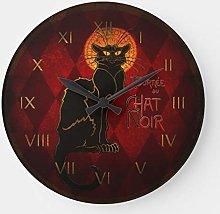 Modern Stylish Classic Wood Clock Round for