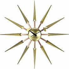 Modern Sunburst Clock Multicolor - Non Ticking,