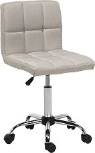 Modern Swivel Fabric Desk Chair Beige Polyester