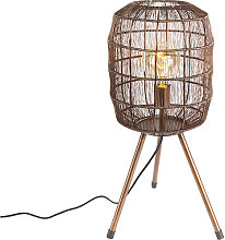 Modern table lamp copper tripod - Redo