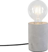 Modern table lamp gray - Bloque