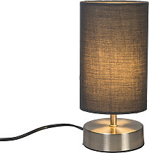Modern table lamp gray with steel - Milo 2