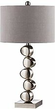 Modern Table Lamps, Polished Chrome Metal Stacked