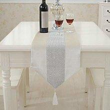 Modern Table Runner Flannel Rhinestones Wedding