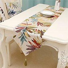 Modern Table Runner North US European Style Leaves