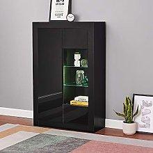 Modern Tall Sideboard Cabinet Cupboard Matt Body