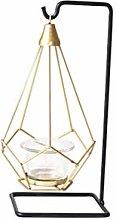 Modern Tea Light Holder Iron Frame with Suspended