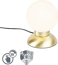 Modern Touch Table Lamp Gold incl. LED - Majestic
