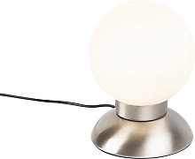 Modern Touch Table Lamp Steel incl. LED - Majestic