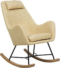 Modern Transitional Comfy Fabric Rocking Chair