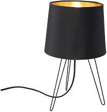 Modern Tripod Table Lamp Black - Lofty