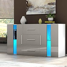 Modern TV Cabinet Sideboard Storage Cupboards 3
