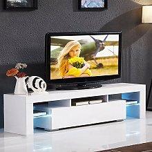 Modern TV Cabinet Stand Storage Drawer Shelf Table