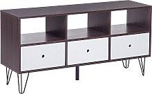 Modern TV Stand Media Unit 3 Drawers Living Room
