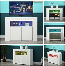 Modern TV Stand, TV Stand Cabinet, 53 Inch White