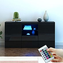 Modern TV Unit Cabinet Storage 3 Door Sideboard