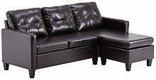 Modern Upholstered Chaise PU Combination Sofa