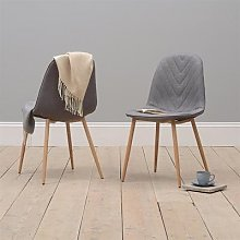 Modern Upholstered Dining Chair - Grey