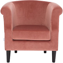 Modern Velvet Tub Chair Armchair, Pink