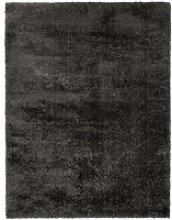 Modern Very Soft Velvet Shaggy Charcoal Rug Deep
