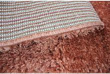 Modern Very Soft Velvet Shaggy Peach Rug Deep Pile
