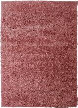 Modern Very Soft Velvet Shaggy Pink Rug Deep Pile