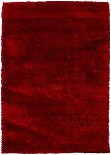 Modern Very Soft Velvet Shaggy Red Rug Deep Pile