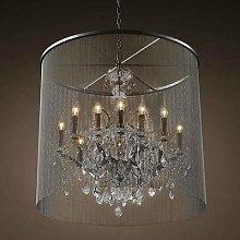 Modern Vintage Crystal Chandelier Lighting Rustic
