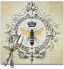 Modern Vintage French Queen Bee Square Placemats