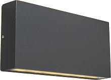Modern wall lamp anthracite incl. LED IP54 - Otan