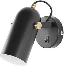 Modern Wall Lamp Black Metal Spotlight Shade