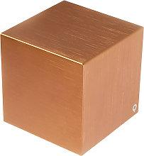 Modern wall lamp copper - Cube