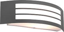 Modern wall lamp dark gray IP44 - Sapphire Deluxe