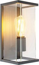 Modern wall lamp dark gray IP54 - Zaandam