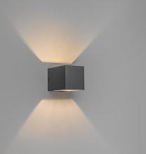 Modern wall lamp dark gray - Transfer