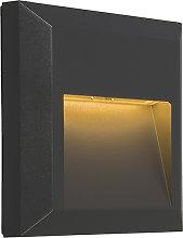 Modern Wall Lamp Dark Grey incl. LED - Gem 2