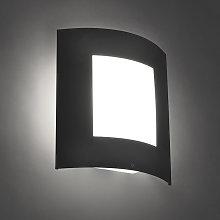 Modern Wall Lamp Dark Grey IP44 - Emmerald 1