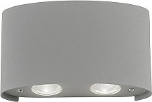 Modern wall lamp gray incl. LED IP54 - Wendy