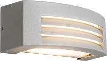 Modern wall lamp light gray IP44 - Hurricane 1