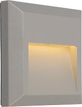 Modern Wall Lamp Light Grey incl. LED - Gem 2