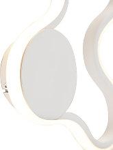 Modern wall lamp white incl. LED - Plomp