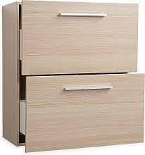 Modern Wall-Mounted Cabinet Light Wood Drawers